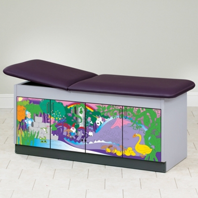 "Pediatric Treatment Table with Hidden Illustrations - 72""W x 27""D"