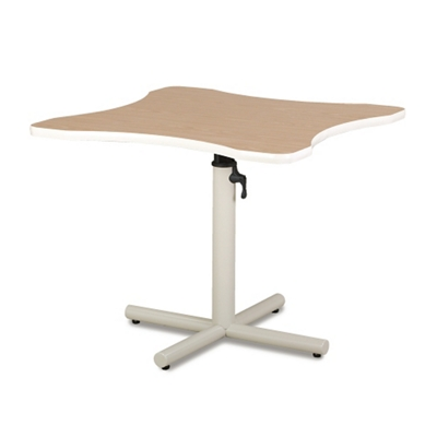 Adjustable Height Hand Therapy Table with X-Style Base