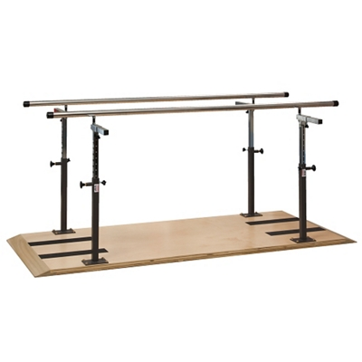 Physical Therapy Platform Mounted Parallel Bars - 7 ft