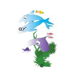 "Sea Life Pediatric Wall Sticker - 77""H"