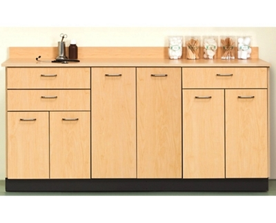 "Six Door Base Cabinet with Three Drawers - 72""W"