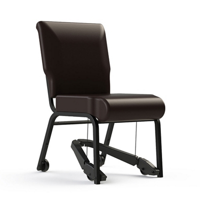 """Armless Vinyl Chair with Mobility Assistor - 18""""W Seat"""