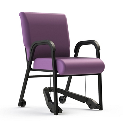 "Vinyl Chair with Mobility Assistor - 22""W Seat"