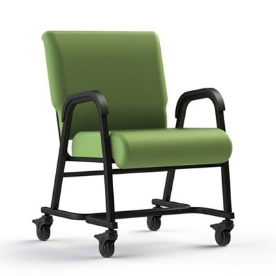 """Vinyl Chair with Locking Casters - 18.5""""H"""