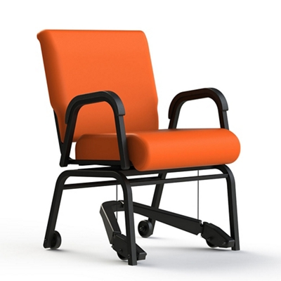 Vinyl Swivel Chair with Mobility Assistor