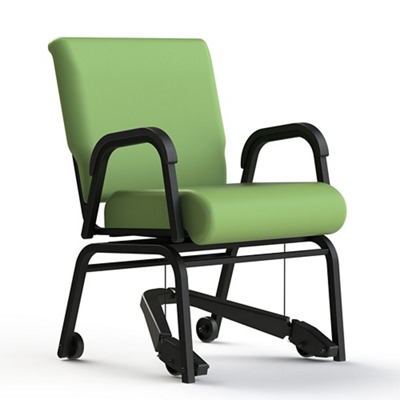 """Vinyl Swivel Chair with Mobility Assistor - 20""""H Seat"""