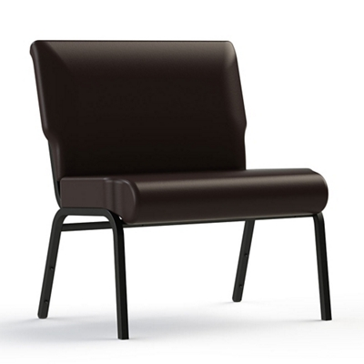 "Armless Vinyl Chair - 30""W Seat"