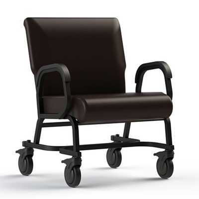 "Vinyl Chair with Locking Casters - 24""W Seat"