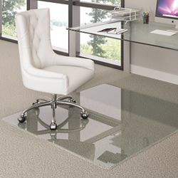 "44"" x 50"" Glass Chairmat"