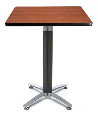 "30"" Square Metal Mesh Base Table"