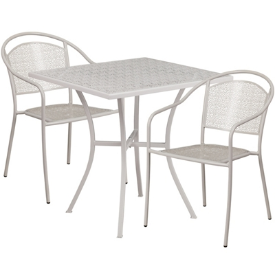 """28"""" Folding Table and Two Armchairs"""