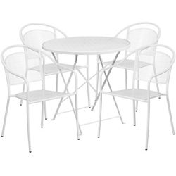 """28"""" Folding Table and Four Armchairs"""