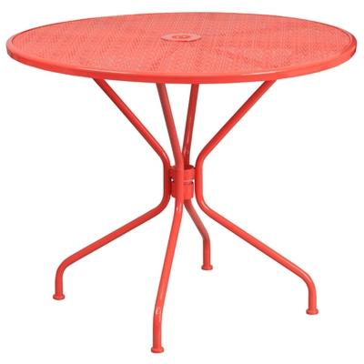 "Steel Patio Table - 35.25""W"