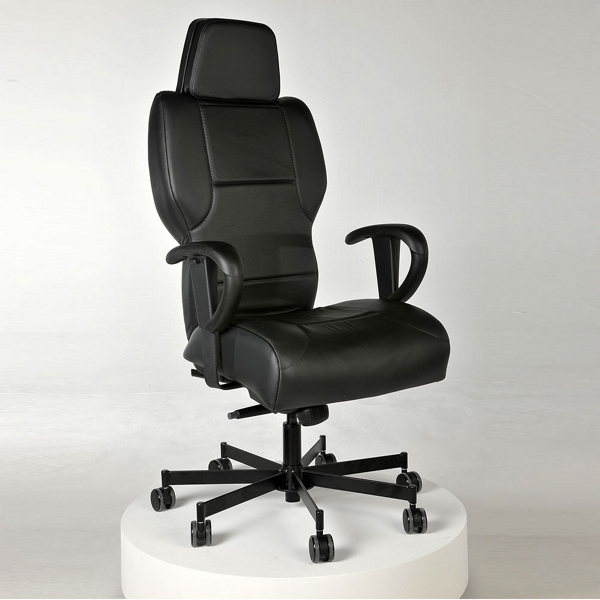 executive 24/7 intensive use genuine leather chair - 56382 and
