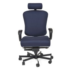 Ergonomic 24/7 Intensive Use Fabric Chair with Headrest