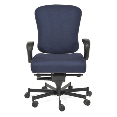 Ergonomic 24/7 Intensive Use Fabric Chair
