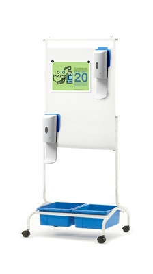 Chart Stand Sanitizer Station