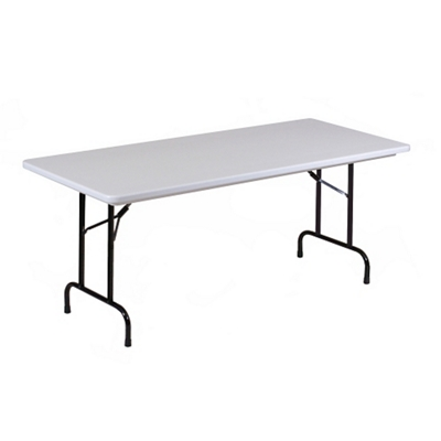 "Lightweight Plastic Folding Table - 96""W x 30""D"