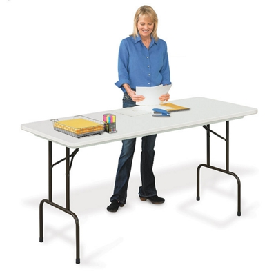 """Blow Molded Standing Height Folding Table - 36"""" H"""