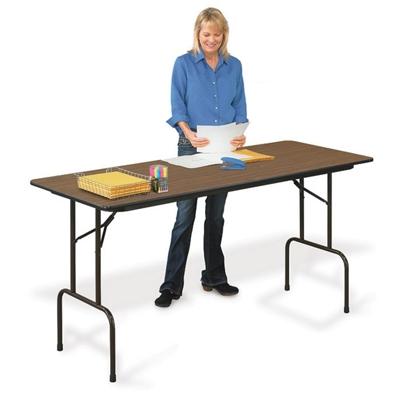 "Melamine Standing Height Folding Table - 36""H"