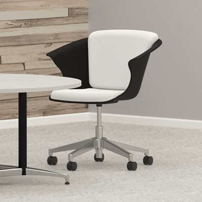 Fabric Bucket Chair with Casters