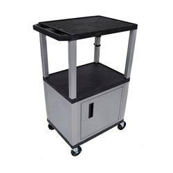 "42""H Utility Cart with Cabinet"