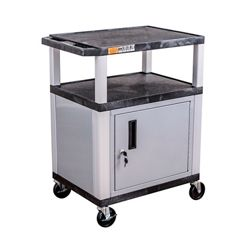 "34""H Utility Cart with Cabinet"