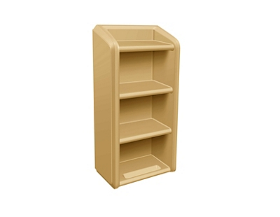 Behavioral Health 4-Shelf Wall-Mounted Bookcase