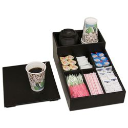 Coffee and Condiment Conference Room Organizer