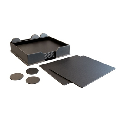 23 Piece Faux Leather Conference Room Accessory Set