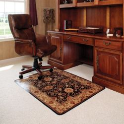 "45"" x 53"" Vinyl Chair Mat for Hard Floors - Meridian Design"