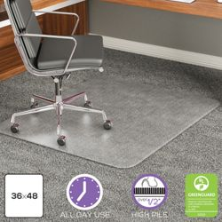 "Big and Tall Chair Mat 36""W x 48""D for Carpet Floors"