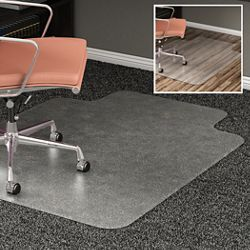 "All Surface Chair Mat with Lip 45""W x 53""D for Hard or Carpet Floors"
