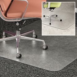 "All Surface Chair Mat 46""W x 60""D for Hard or Carpet Floors"