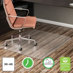 "Classic Chair Mat 36""W x 48""D for Hard Floors"