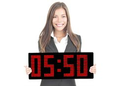 """Magnified LED Clock with 8"""" Numerals - 23""""W"""