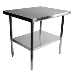 "Stainless Steel Table - 36""W x 30""D"