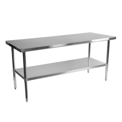"Stainless Steel Table - 72""W x 30""D"