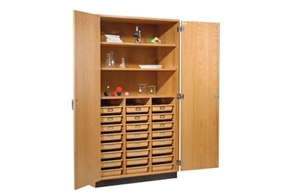 "Science Classroom Storage Cabinet with 24 Trays - 48""W"