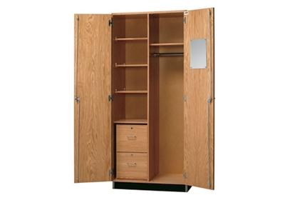 "Lockable Laboratory Wardrobe Storage Cabinet - 36""W"