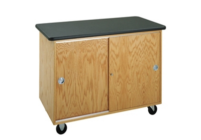 """Flat Top Mobile Laboratory Table with Storage - 48""""W"""