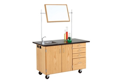Mobile Lab Demonstration Table with Sink