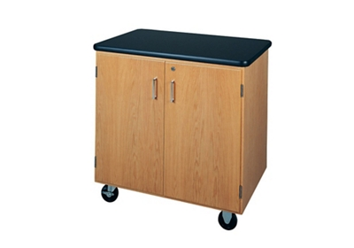 "Lockable Compact Mobile Laboratory Storage Cabinet - 36""W"