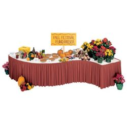 """Shirred Table Skirting - 21'W x 29""""H"""