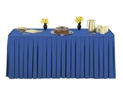 """Box Style Table Skirting - 108"""" x 29"""""""