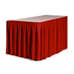 """Accordion Style Table Skirting - 108"""" x 29"""""""