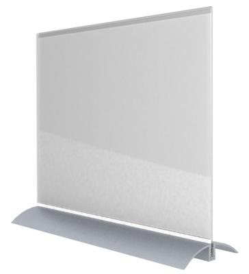 Acrylic Desktop Sign Frame - Landscape Letter-Sized
