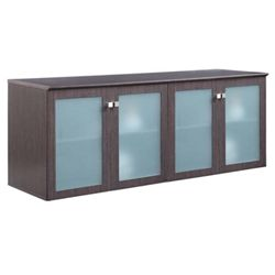 "Diamond 72""W x 29.5""H Low Wall Cabinet with Glass Doors"