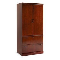 Executive Cherry Lateral File Storage Cabinet Without Moulding