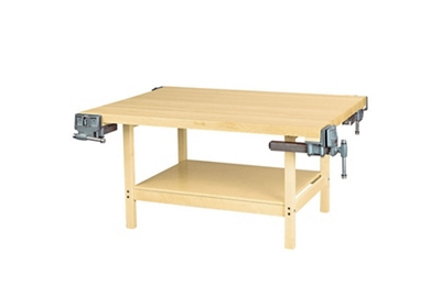"Four Person Maple Workbench with Four Vices - 54"" x 64"""